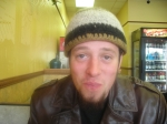 My oldest son bieng silly. We were at Subway having lunch. Isn't he handsome?
