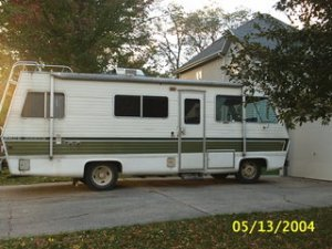 This is the rv which we will be living in until hopefully Lord willing some day build.
