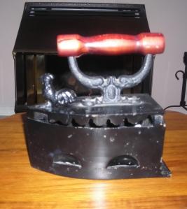 coal burning iron or stove top